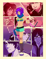 SCOTT PILGRIM: Ramona and The Evil Exes by tabby-like-a-cat
