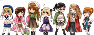APH: Chibi Micronation Girls by YOONA-YOONA
