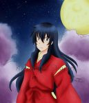 Human Inuyasha in night by Kawaragi-Shuran