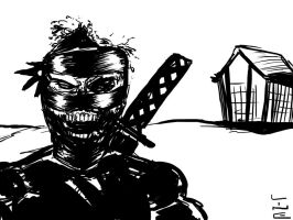 04 14 2012 Daily Draw Ninja X Horror Movie by LineDetail