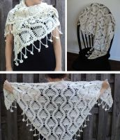 White Waves Shawl by Brookette