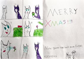 Jaz Art: Xmas Card To Her Mum by jojo22