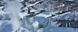 Bridal Veil and American Falls in Winter Garb by TomFawls