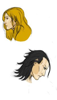 Sigyn and Loki by L-Remy