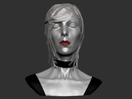 Female Bust with Hair by T-Magnus