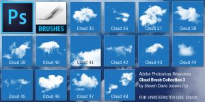 Photoshop Cloud Brushes 3 by sdavis75