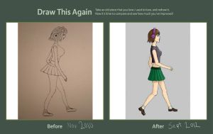 Draw This Again: Walking... by jessypet92