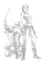 Ultimate Hawkeye + Black Widow by Andy-Pandy