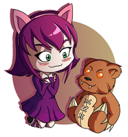 Annie and Tibbers Chibi by Starforsaken101