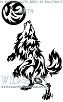 Werewolf And Moon Tattoo by WildSpiritWolf