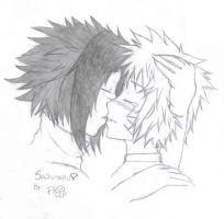 Sasunaru cute kiss by okane-tsunami