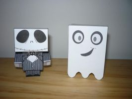 Jack and a ghost cubee by Cepee
