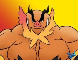 Blaize the Emboar by GoldPaladinSevlow