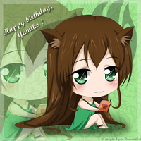 [Gift] Happy Birthday Yamicchi ! by Azulya-Nyan