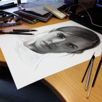 Emma Watson in progress ( pencil ) by AtomiccircuS