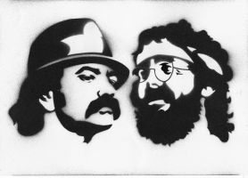 cheech and chong stencil by D3v1L5h4nD