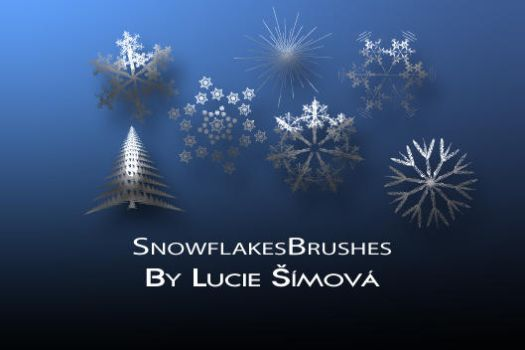 SnowflakesBrushes by markyfan