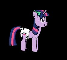 Cutie Twilight Sparkle with her Diaper (Animated) by Mighty355