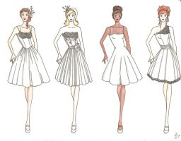 Laker Girls Wedding Dresses by unusual-filament