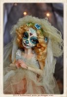SUGAR SKULL DAY OF THE DEAD BJD DOLL SUTHERLAND by SutherlandArt