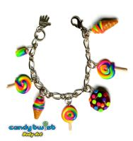 Rainbow Miniature Food Charm Bracelet by Dabstar