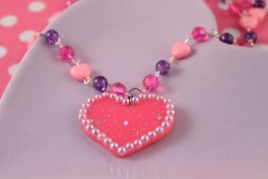 Bubblegum Babydoll Necklace by PeppermintPuff
