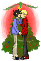 Meet me under the mistletoe by likethebeer