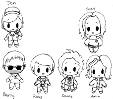 Game Grumps Chibi style (No Color) by Bloody-Uragiri