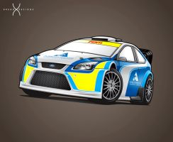 John Powell's Ford Focus - Rally Barbados 2014 by BreadX