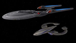 Enterprise and Protector by enterprisedavid