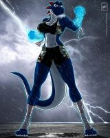 Freedom Fighter Blue Yoshi_near completion by wsache007