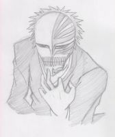 ichigo's hollow mask by aznboiz11