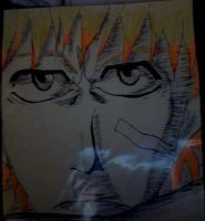 ichigo  face penned by B0N3Z666