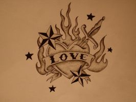 Heart, Love and Nautical Stars by asphyxia-romantica