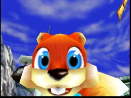Conker looks at the viewers by Conkerfan91