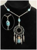 Blue Thoughts Collector - necklace by SaQe