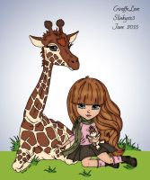 Giraffe Love by slinkysis3