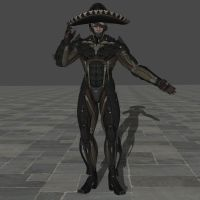 Raiden with Mexican disguise hat by zeushk
