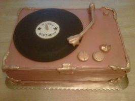 Record Player Cake by Cupcake-Killer