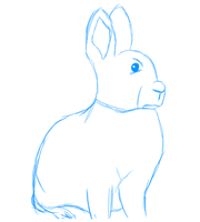 Sketch - Rabbit by cptmiche