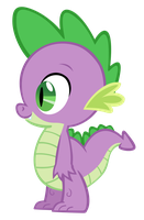 Spike the Dragon vector by Durpy