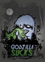 Godzilla Sucks Vector Vers. by goodmorningnight