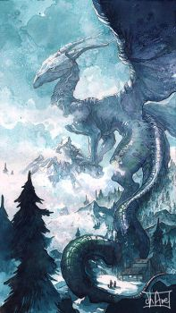 Dragonne Sleeva Watercolors by Morgan-chane