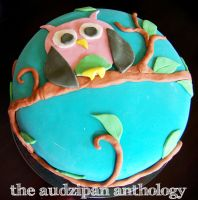 Owl Birthday Cake by audreyjill