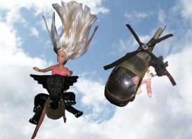 Barbie and Potter on the sky by MadxRainbow