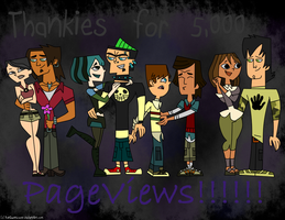 Thankies for 5,000 Pageviews by DunGwenLover