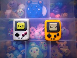 polymer clay gameboy and gameboy pocket by dsam4