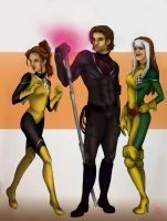 Kitty, Gambit, Rogue. by CamillE898