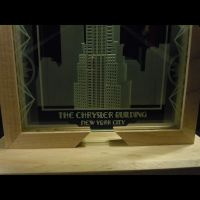 Chrysler Building Multistage Sandblasted Art Glass by ImaginedGlass
