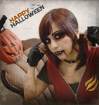 Happy Halloween - Claire Redfield vampire by Vicky-Redfield